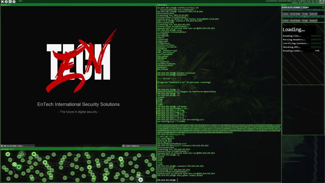 Screenshot from Hacknet (5/6)