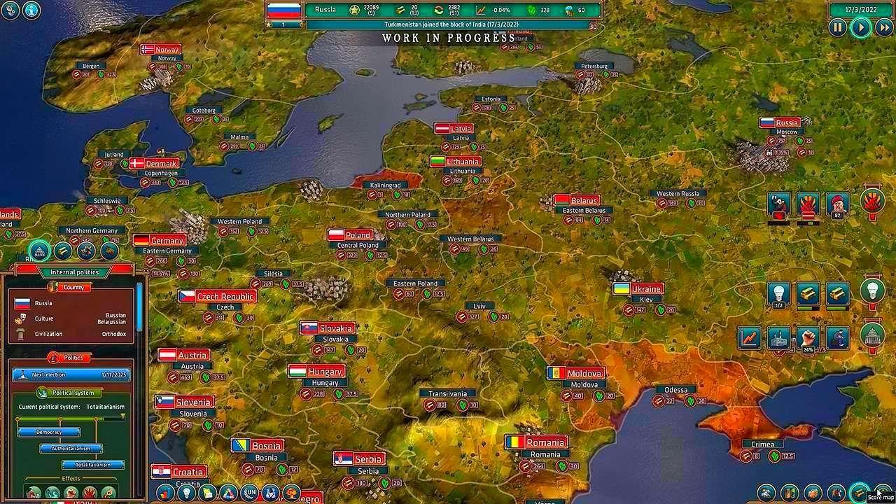 Screenshot from Realpolitiks (3/8)