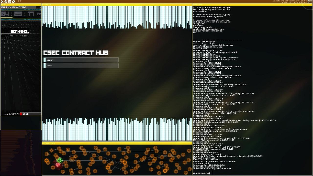 Screenshot from Hacknet (2/6)