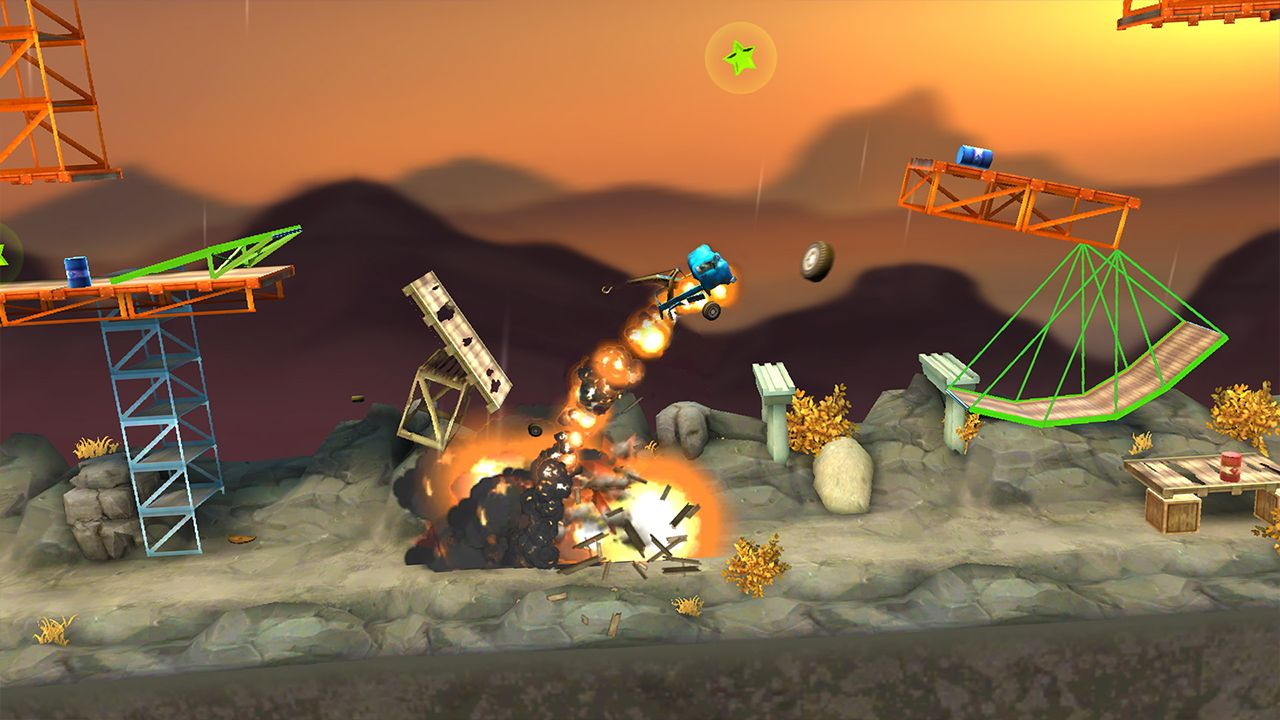 Screenshot from Bridge Constructor Stunts (5/5)
