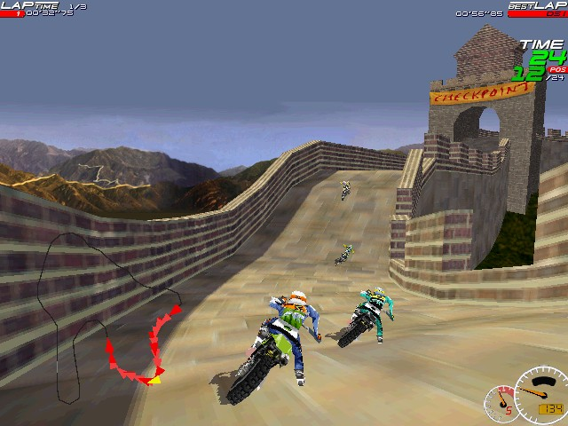 Screenshot from Moto Racer (2/8)