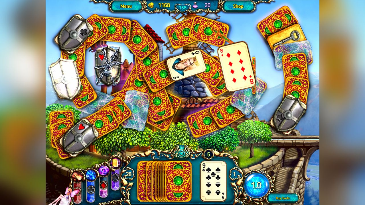 Screenshot from Dreamland Solitaire: Dragon's Fury (3/8)