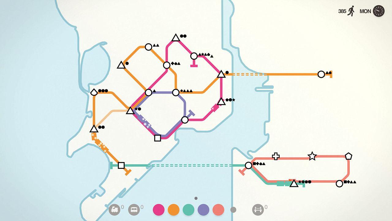 Screenshot from Mini Metro (2/9)