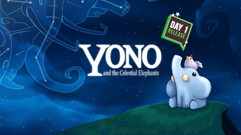 Pack your trunk! We've got our first Day 1 release! Yono and the Celestial Elephants