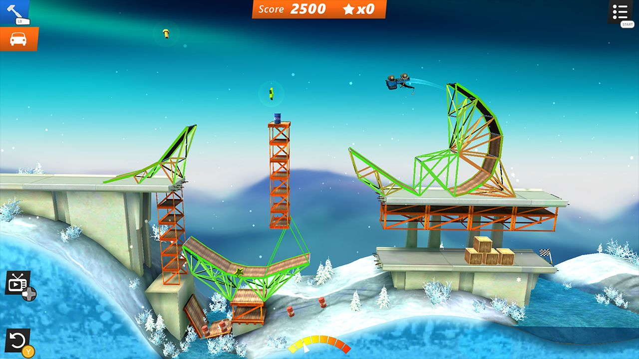 Screenshot from Bridge Constructor Stunts (2/5)