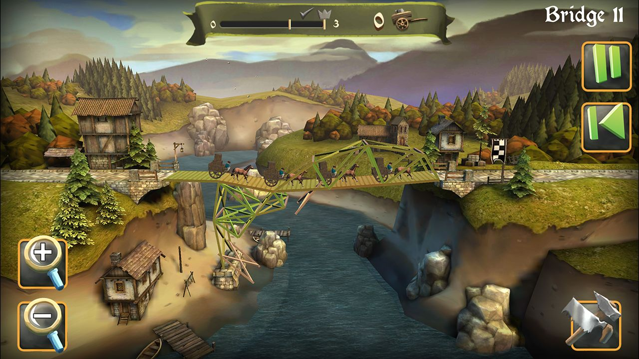 Screenshot from Bridge Constructor Medieval (4/5)