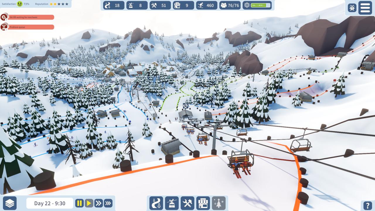 Screenshot from Snowtopia: Ski Resort Builder (2/5)