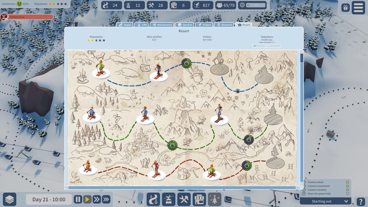 Screenshot from Snowtopia: Ski Resort Builder (4/5)
