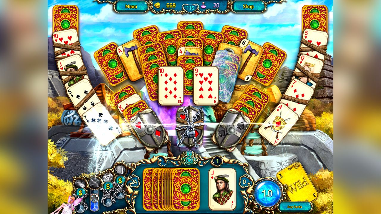 Screenshot from Dreamland Solitaire: Dragon's Fury (8/8)