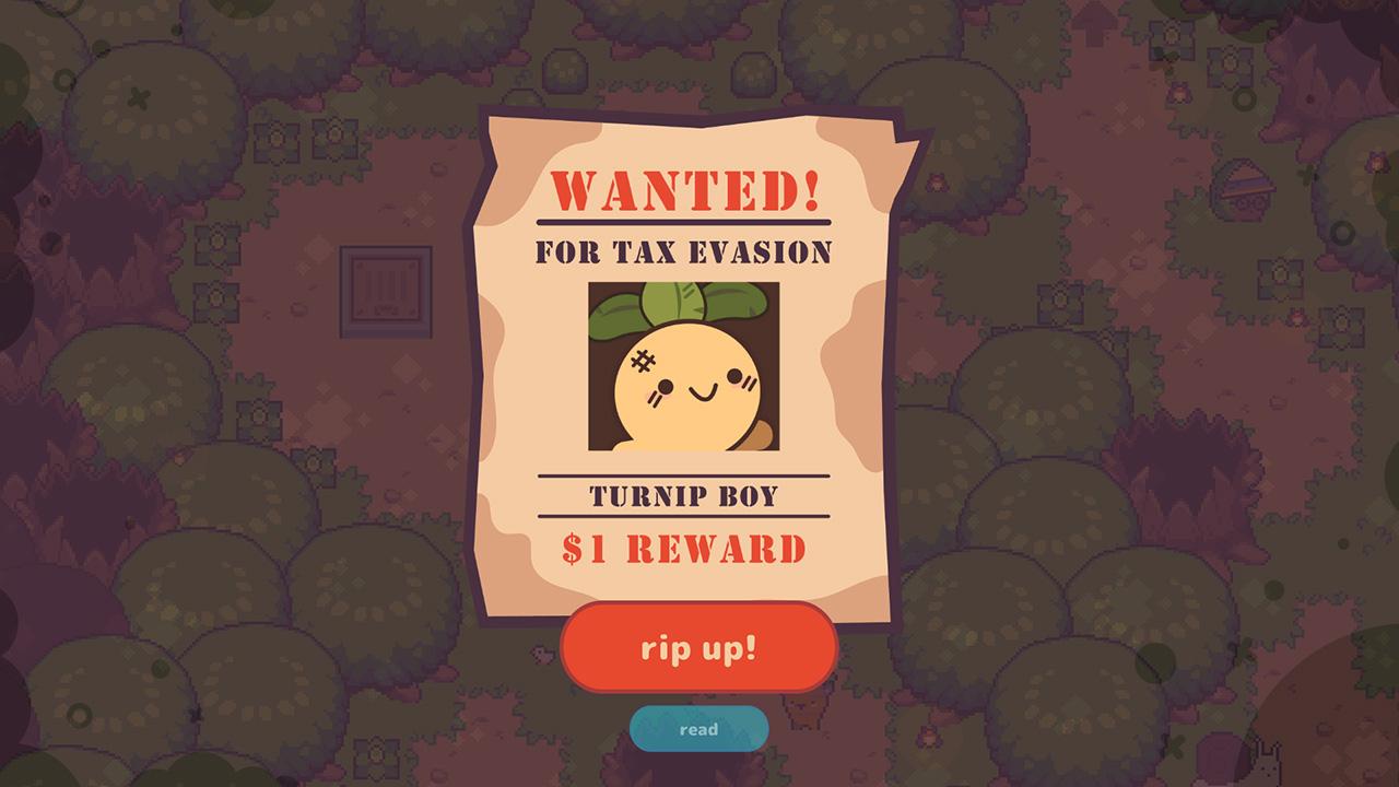 Screenshot from Turnip Boy Commits Tax Evasion (4/6)