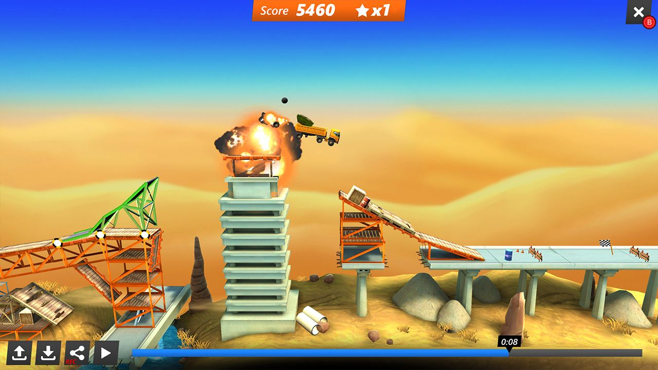Screenshot from Bridge Constructor Stunts (3/5)