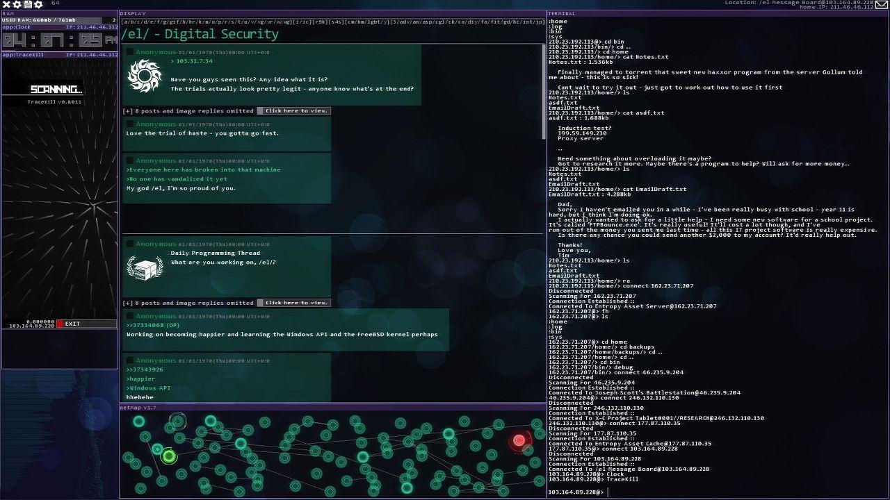 Screenshot from Hacknet (3/6)