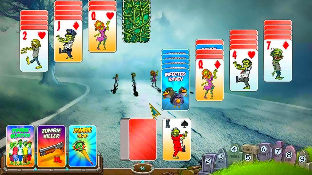 Screenshot from Zombie Solitaire (5/9)