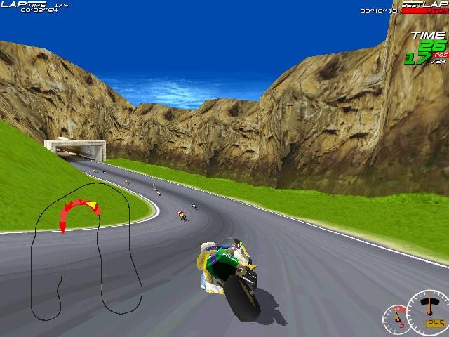 Screenshot from Moto Racer (1/8)