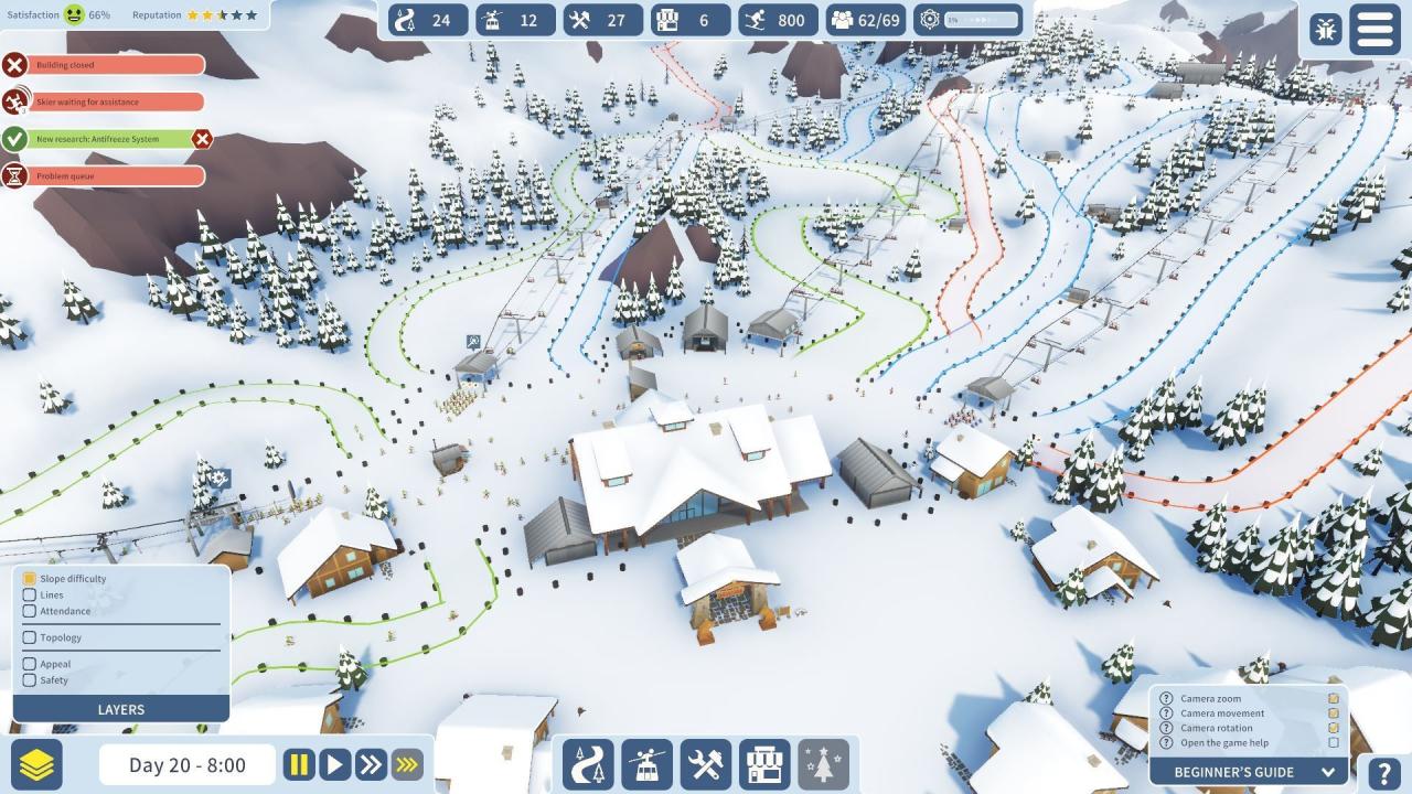 Screenshot from Snowtopia: Ski Resort Builder (3/5)