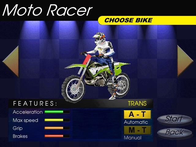 Screenshot from Moto Racer (7/8)