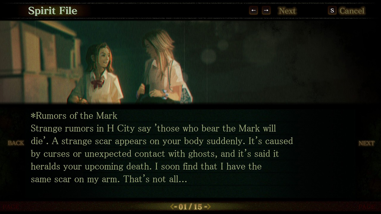 Screenshot from Spirit Hunter: Death Mark (8/9)