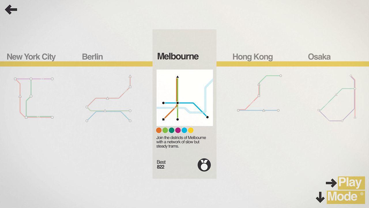 Screenshot from Mini Metro (8/9)