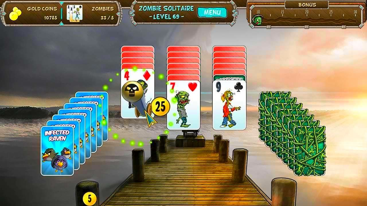 Screenshot from Zombie Solitaire (7/9)
