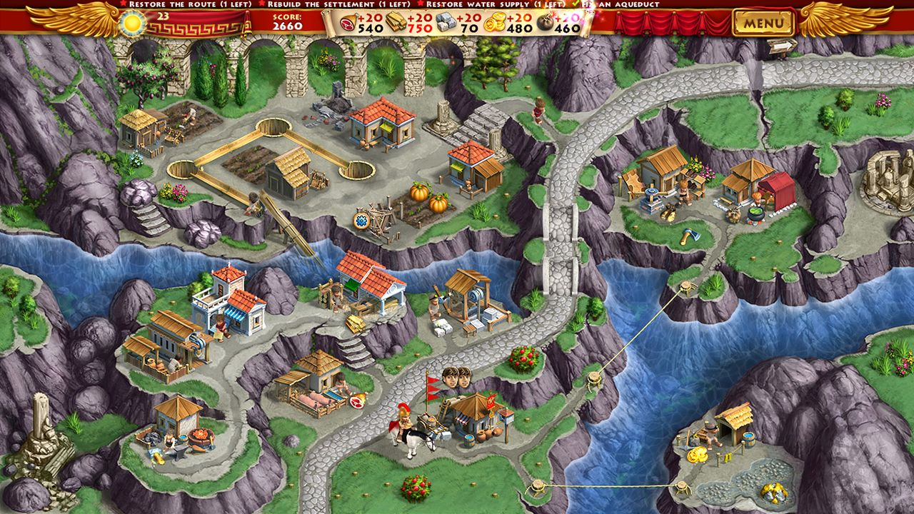 Screenshot from Roads of Rome: New Generation (5/7)