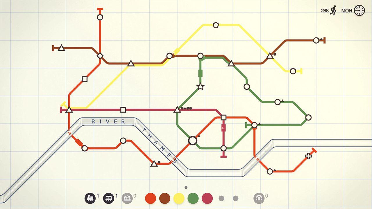 Screenshot from Mini Metro (3/9)