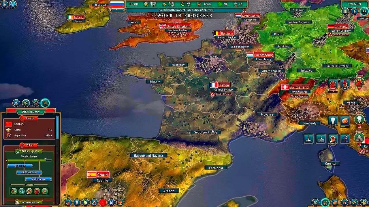 Screenshot from Realpolitiks (2/8)