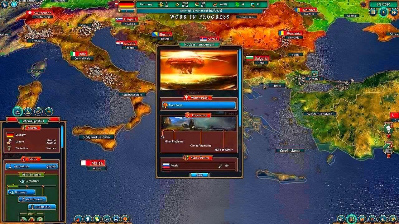 Screenshot from Realpolitiks (6/8)