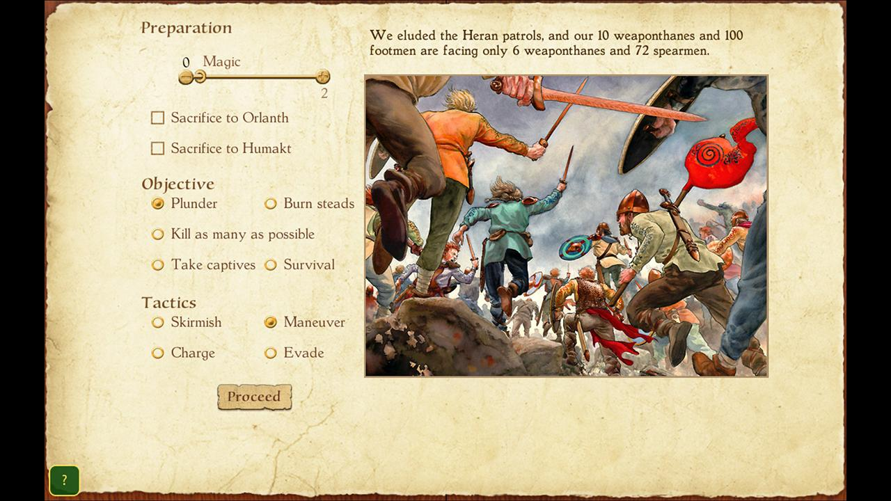 Screenshot from King of Dragon Pass (4/5)