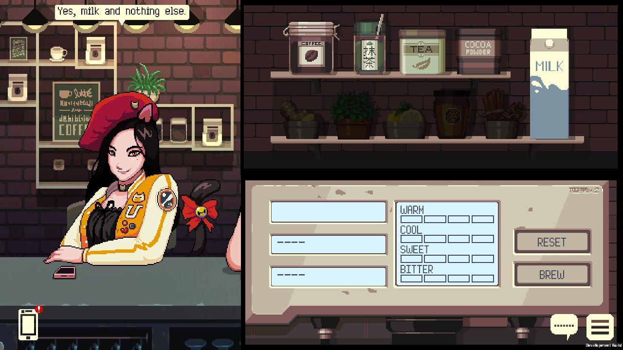 Screenshot from Coffee Talk (9/9)