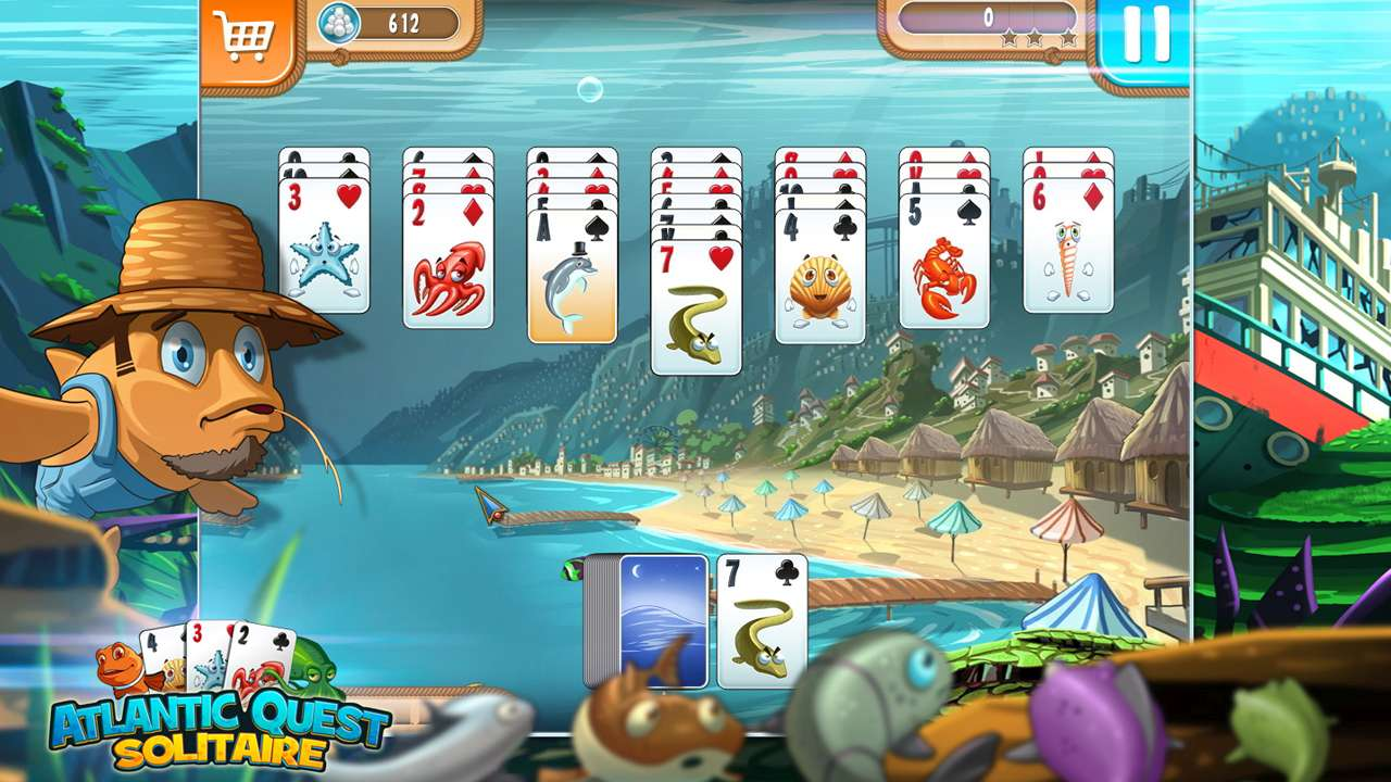 Screenshot from Atlantic Quest Solitaire (2/7)