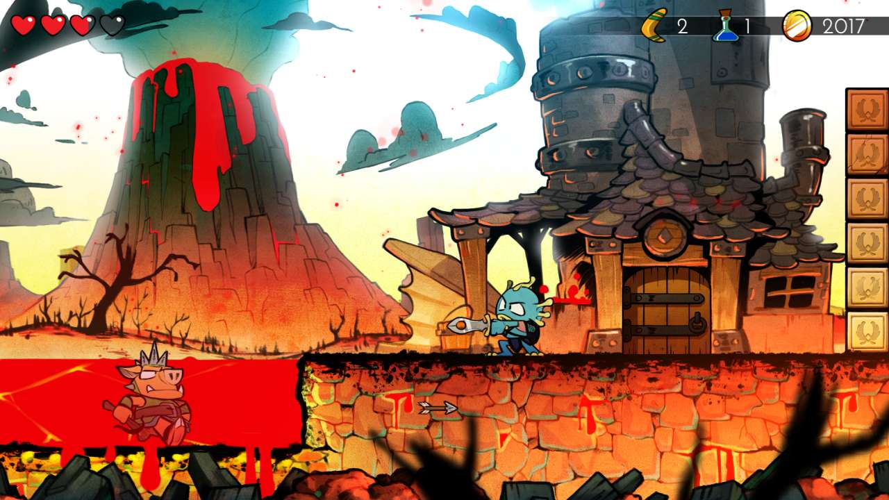 Screenshot from Wonder Boy: The Dragon's Trap (6/10)
