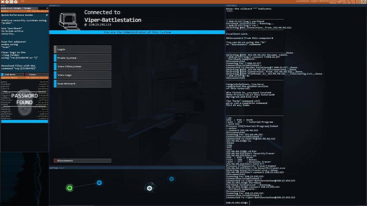 Screenshot from Hacknet (6/6)