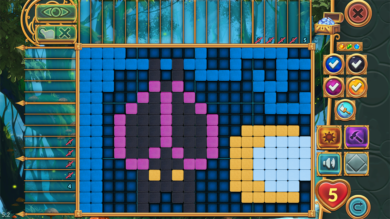 Screenshot from Legendary Mosaics: The Dwarf and the Terrible Cat (1/5)