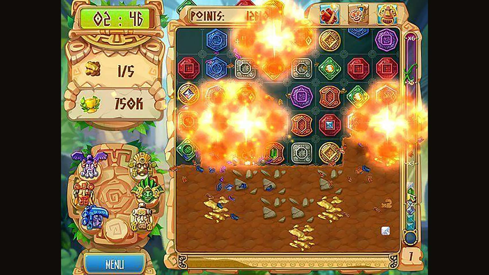 Screenshot from The Treasures of Montezuma 5 (4/7)
