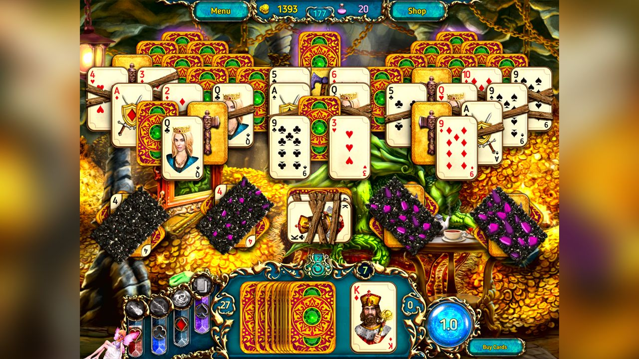 Screenshot from Dreamland Solitaire: Dragon's Fury (2/8)