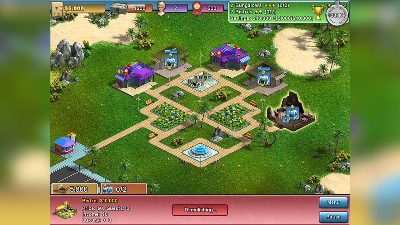 Screenshot from Summer Resort Mogul (3/5)