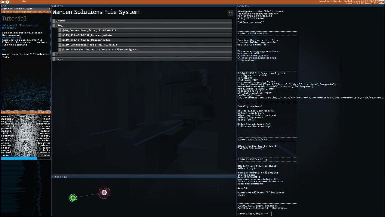 Screenshot from Hacknet (4/6)