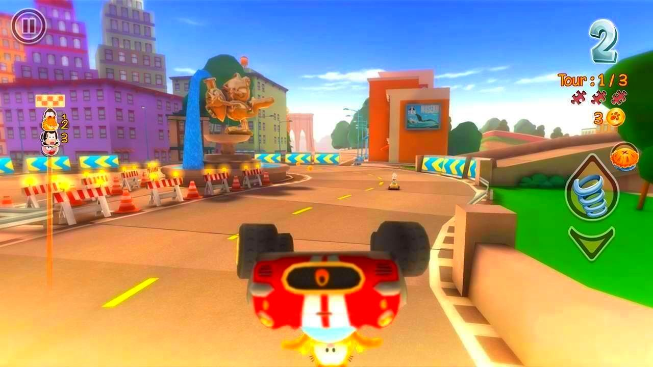 Screenshot from Garfield Kart (8/10)
